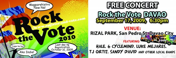 rock the vote davao