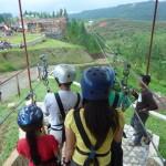 Mindanaoan at Dahilayan Adventure Park ZipZone Bukidnon zipline – longest dual cable zipline in Asia