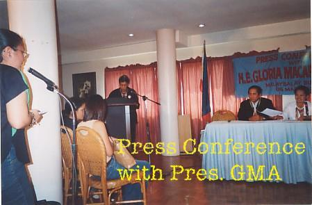 press conference with pgma