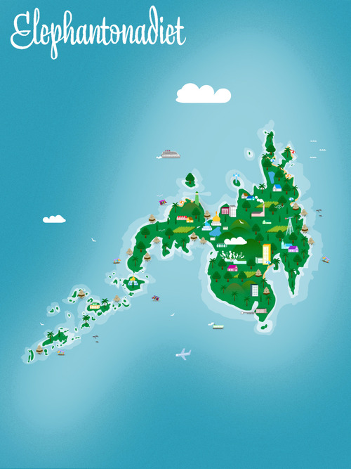 Cute Vector Depiction Of The Island Of Mindanao