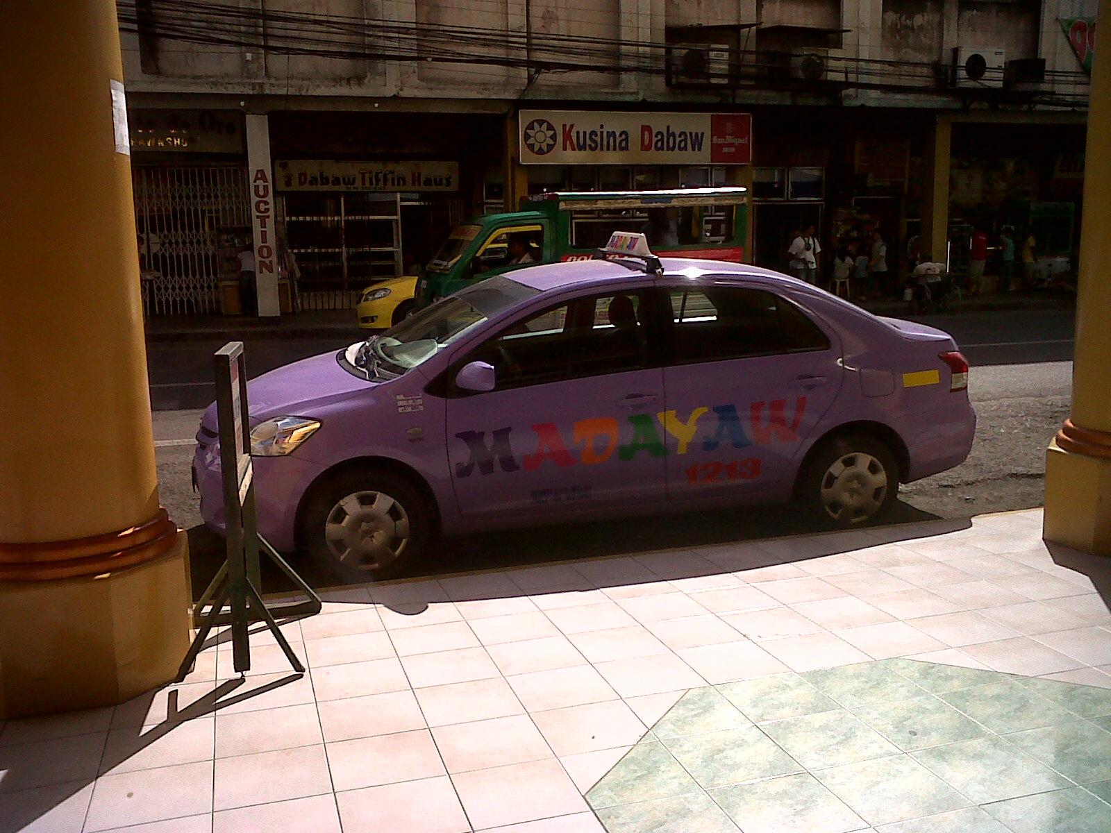 purple taxi in davao city mindanao