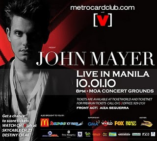 john mayer in manila 2010