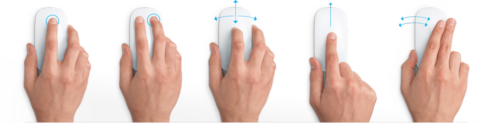 gestures for apple magic mouse