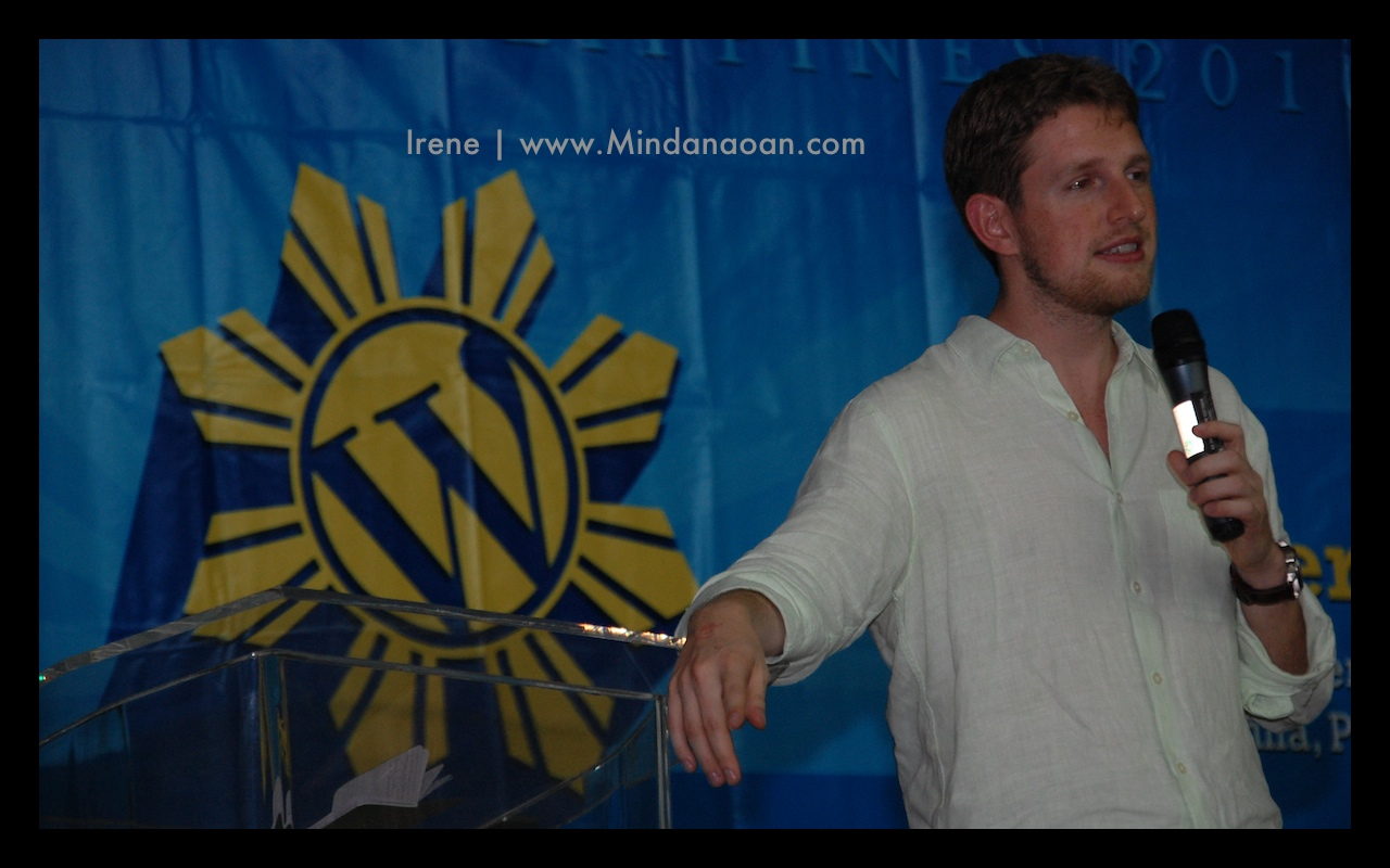 Matt Mullenweg | photo by Irene www.Mindanaoan.com
