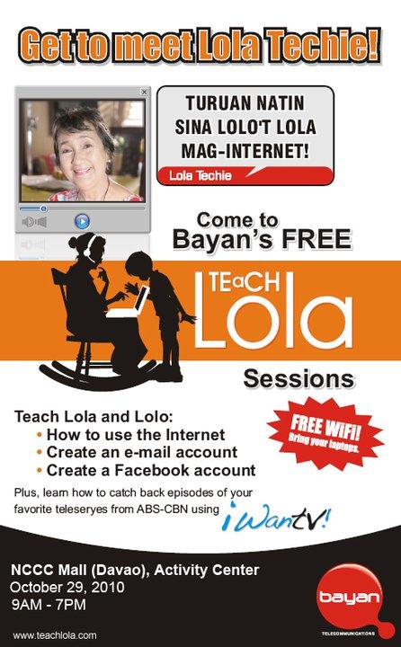 teach lola event nccc mall davao city