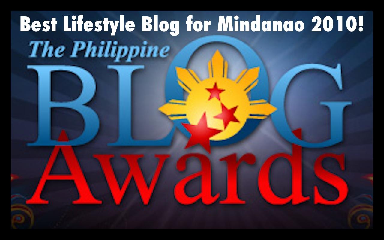 Best Lifestyle Blog for Mindanao 2010