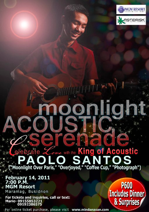 paolo santos live in bukidnon poster
