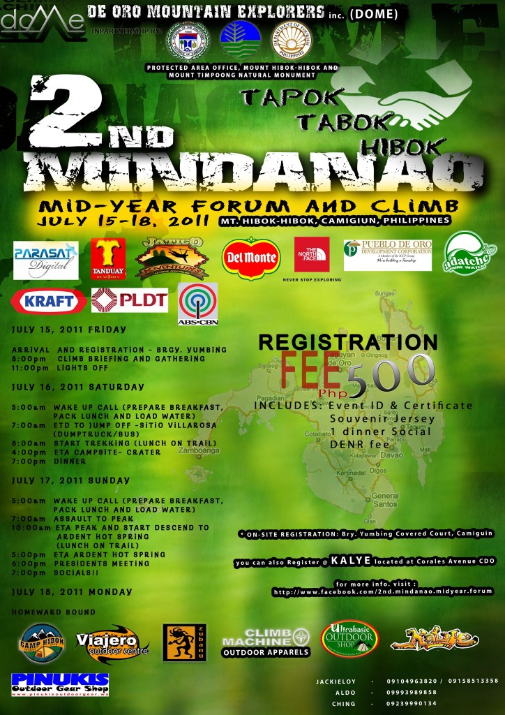 2nd mindanao forum and climb