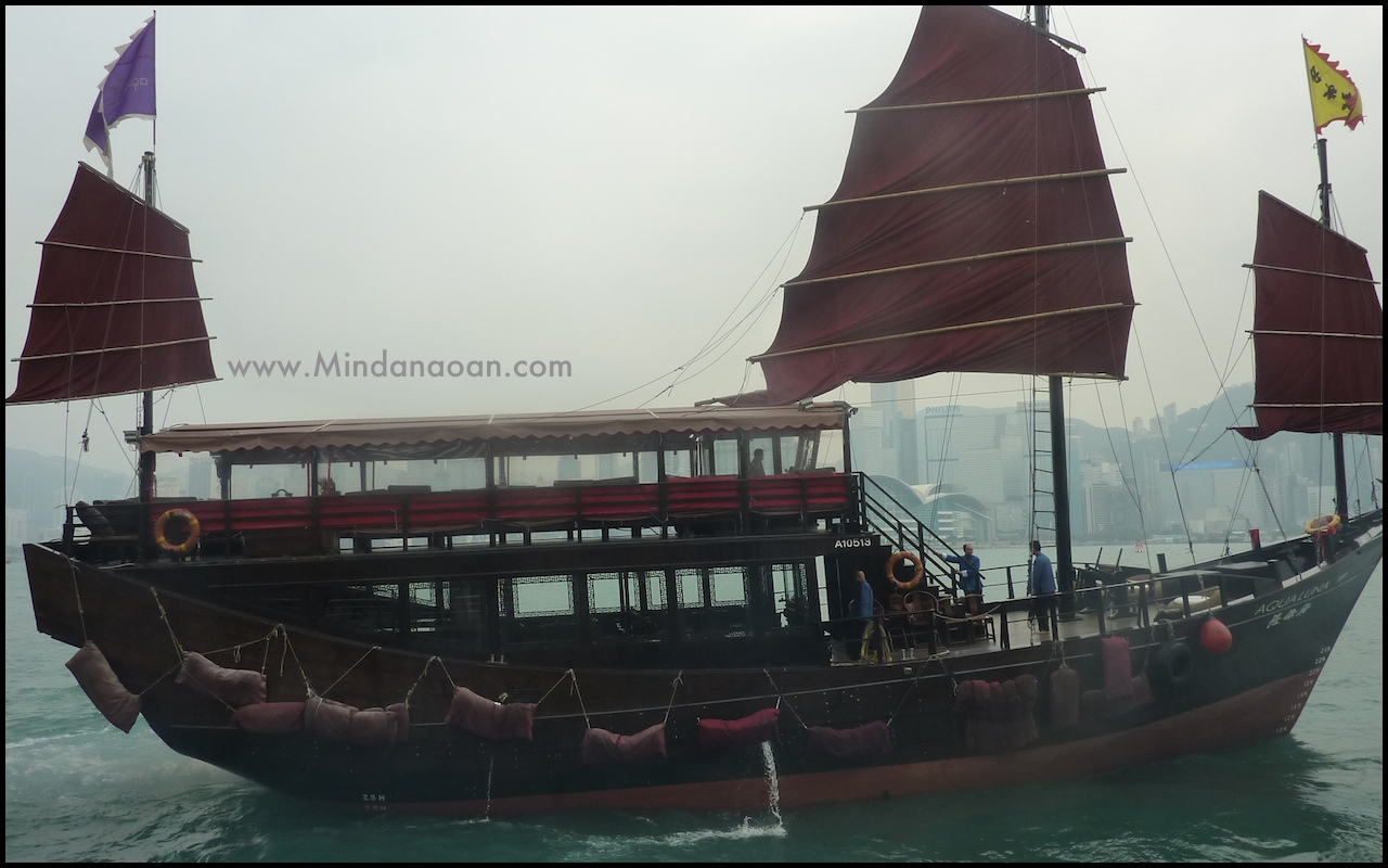 chinese junk ship hong kong