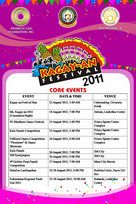 2011 Kagay-An Festival core events