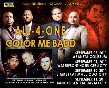 all 4 one and color me badd concert davao and cagayan de oro