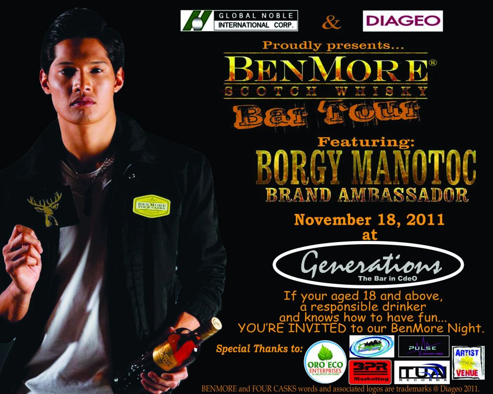 borgy manotoc benmore scotch whisky launch