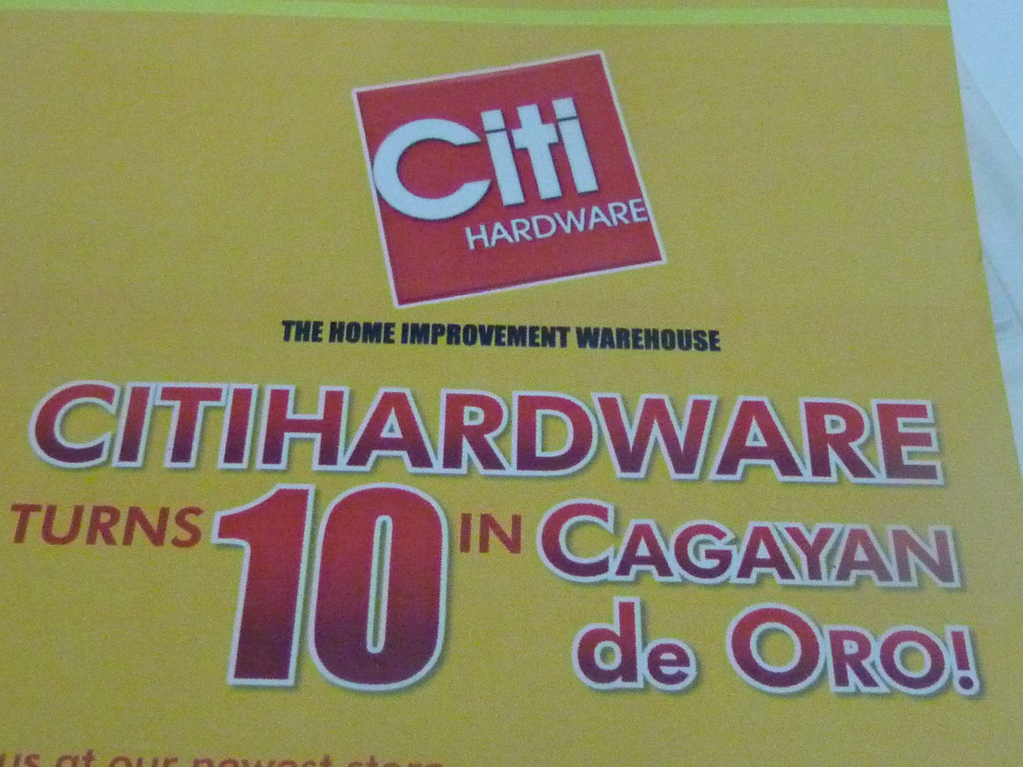 citihardware 10th anniversary in cdo