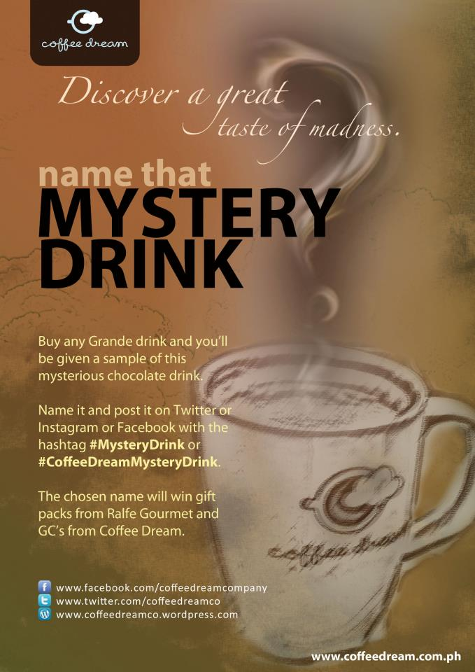 Coffee Dream Mystery Drink contest