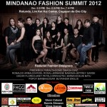 UPDATED: Mindanao Fashion Summit 2012 show schedule and designers guide