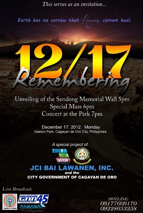 sendong memorial wall cdo