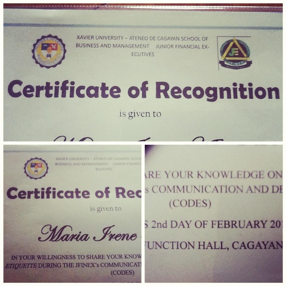 certificate-xavier-university-jfinex