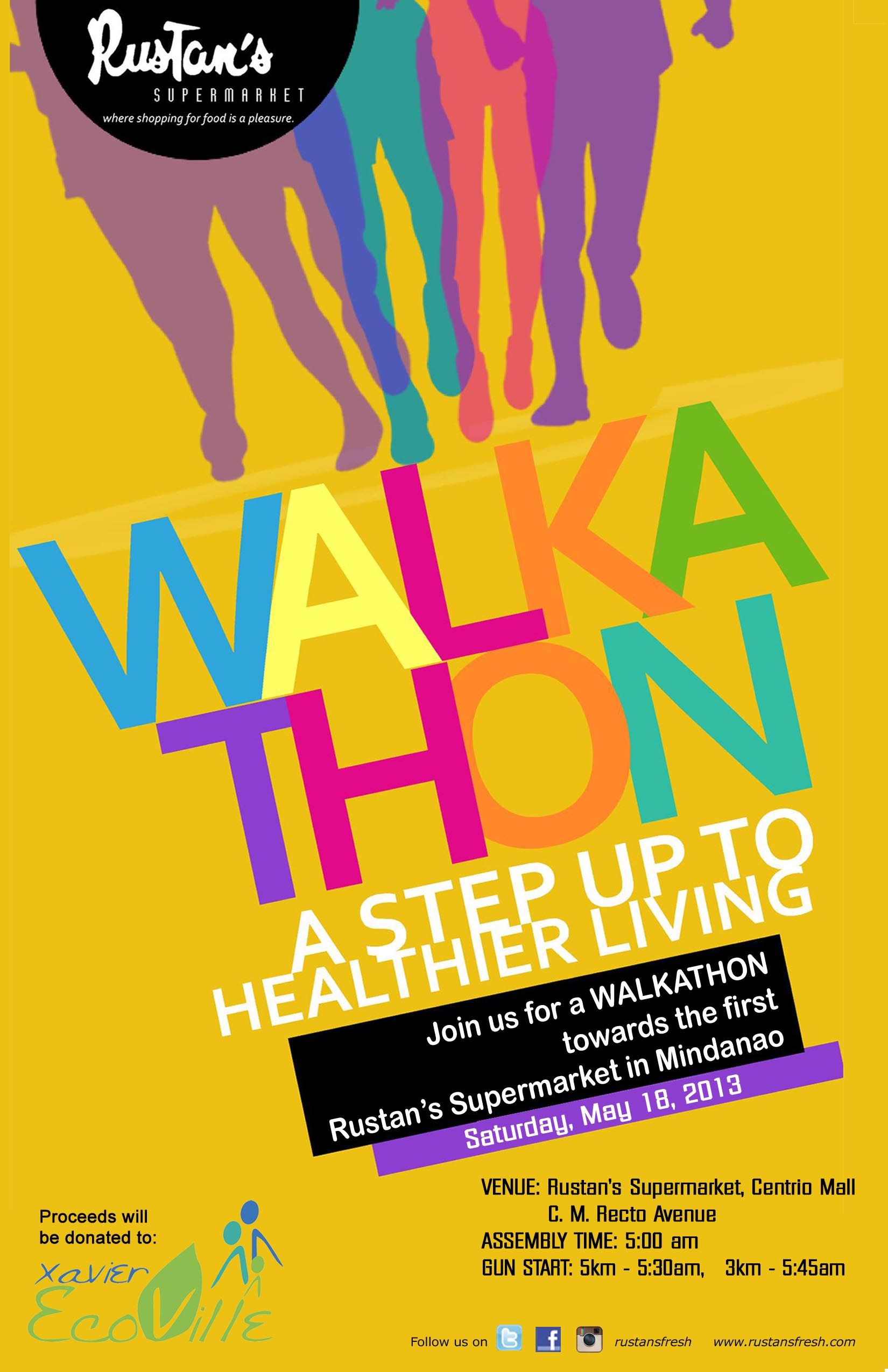 rustans walkathon new layout poster