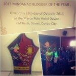 Mindanaoan is 2013 Mindanao Blogger Of The Year