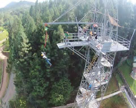 dahilayan skytower bungee basejump tower