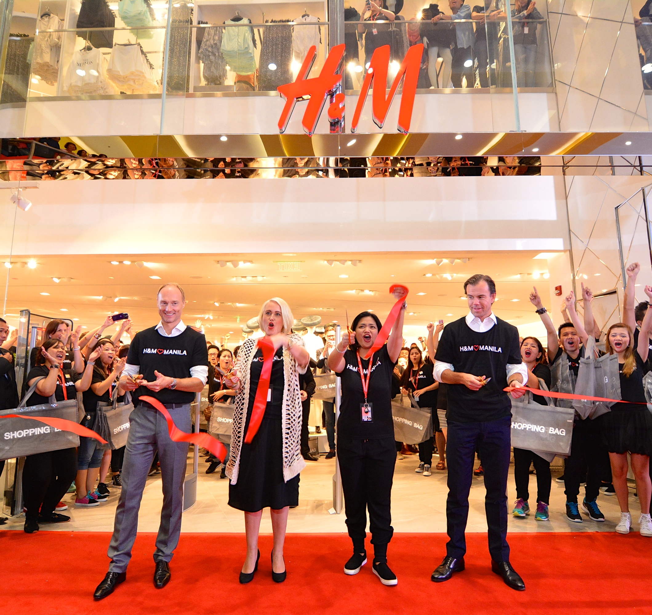 ribbon cutting h&m cdo