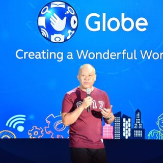 Globe President and CEO Ernest Cu launches the new Globe Purpose at the 11 th Wonderful World  with Globe, emphasizing how it redounds to its brand of customer service and experience.