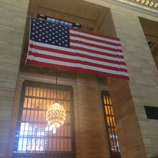 american flag grand central terminal new york
