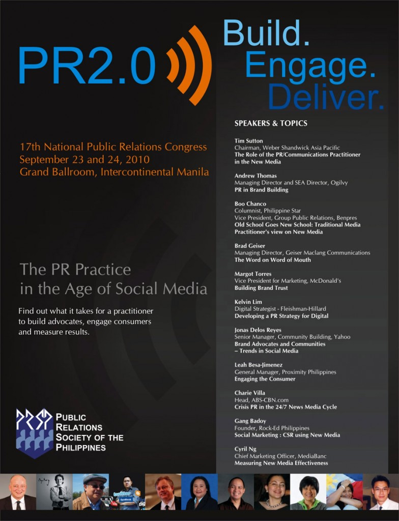 pr2.0 poster - public relations society of the philippines
