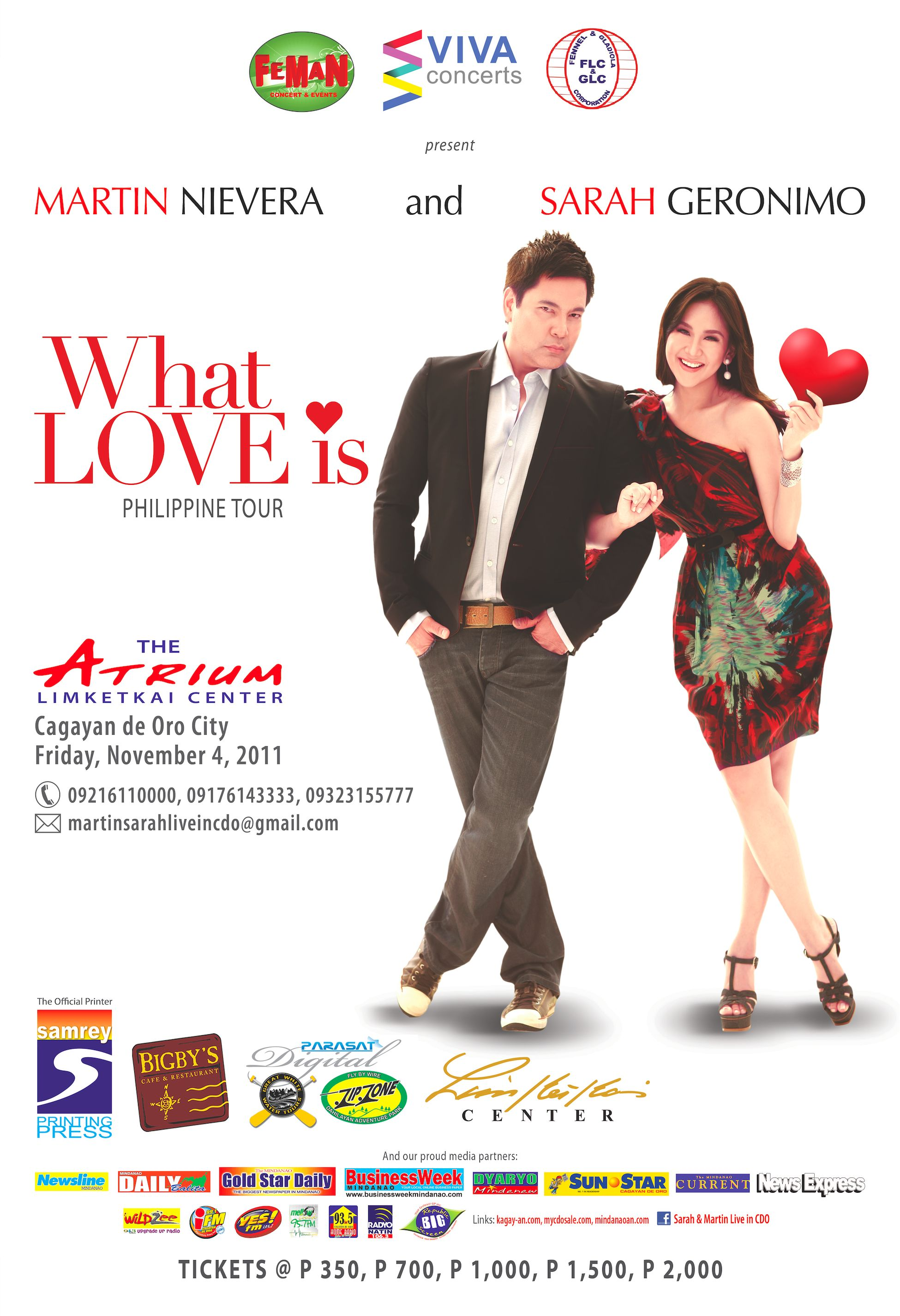 Update: Martin Nievera and Sarah Geronimo Live in Cagayan de Oro concert – Mindanaoan.com is an official media partner!