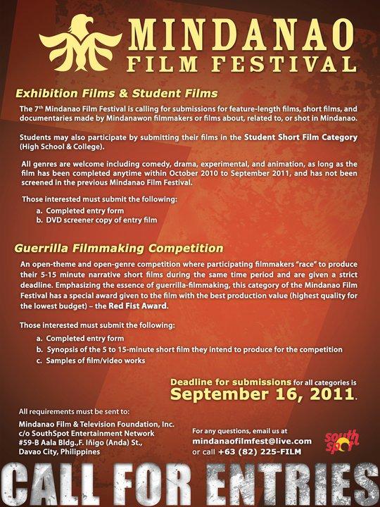 Call for entries: Mindanao Film Festival 2011