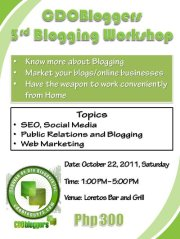 I want to meet YOU on October 22! I am a speaker at this blogging workshop – come and join!
