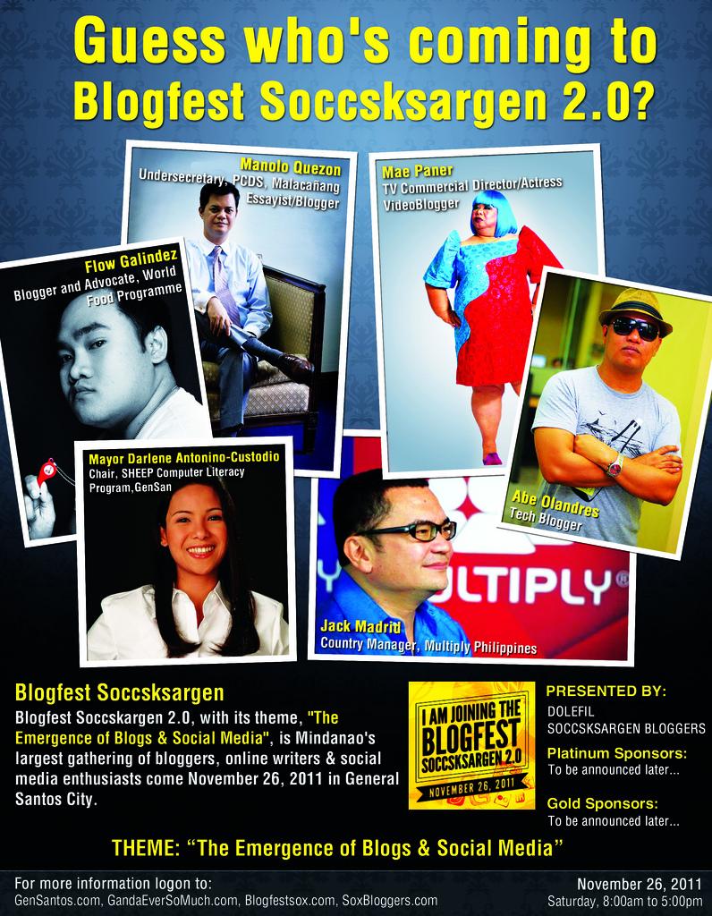 I'm joining Blogfest SOCCSKSARGEN 2011