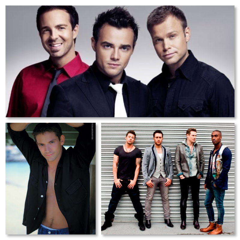 a1, Blue and Jeff Timmons of 98 Degrees Live in Manila and Singapore