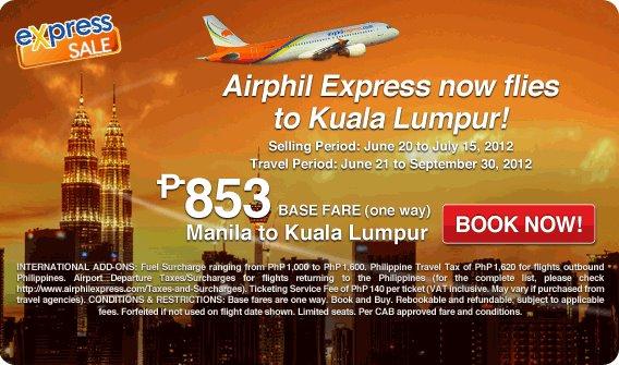 Airphil Express launches Manila – Kuala Lumpur, Malaysia flights