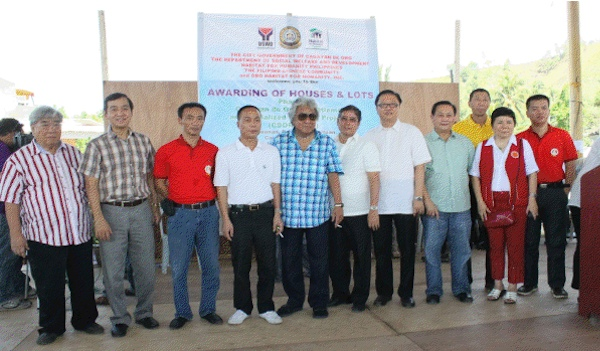 Fil-Chinese community donates 160 houses for Sendong victims