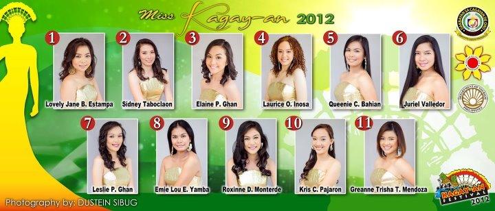 Miss Kagay-an 2012 candidates photos