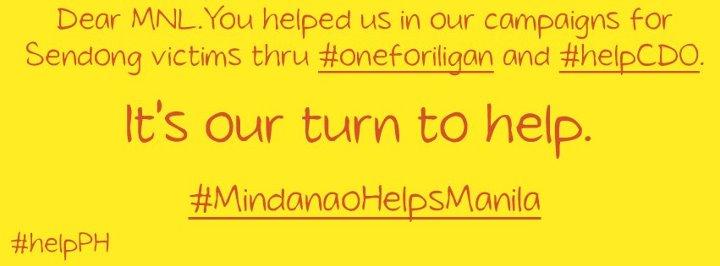 How Mindanao can help Manila flood victims #MindanaoHelpsManila