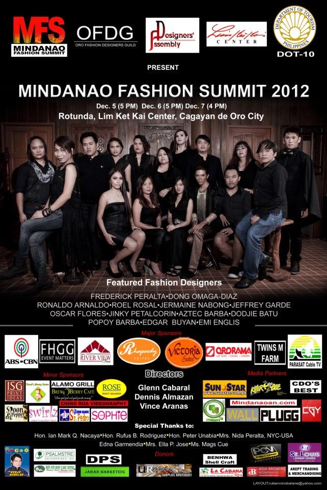 Mindanaoan.com is an official media partner of 2012 Mindanao Fashion Summit