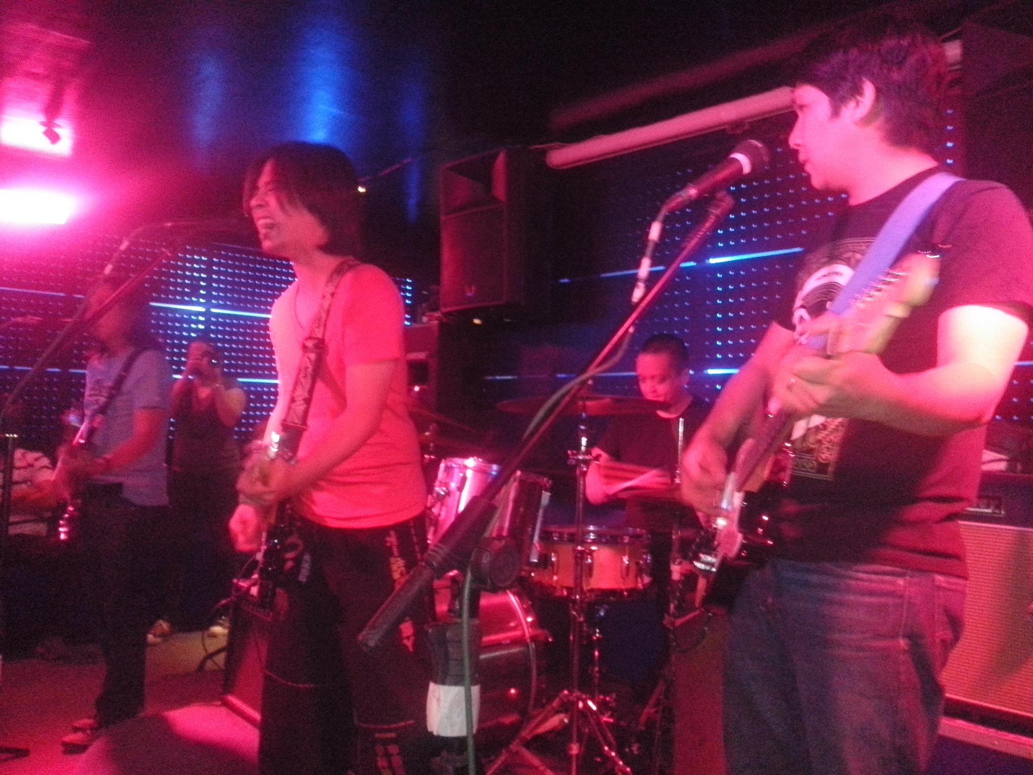 Co-producing a Rivermaya band gig at Blue Room, Apo View Davao