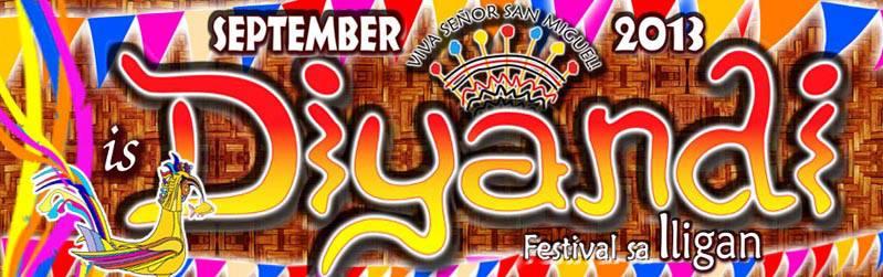 Diyandi Festival 2013 Iligan schedule of activities