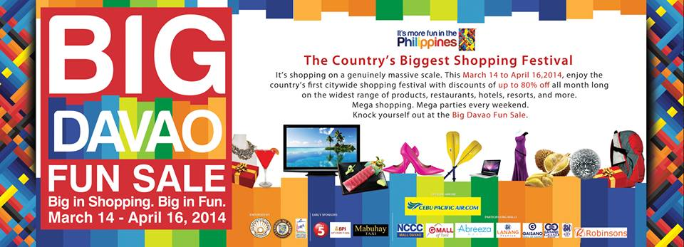 Big Davao Fun Sale – up to 80 percent off!