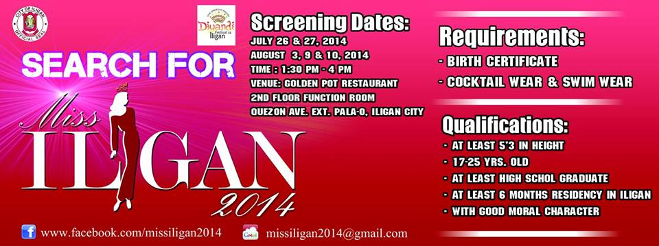 Join the search for Miss Iligan 2014