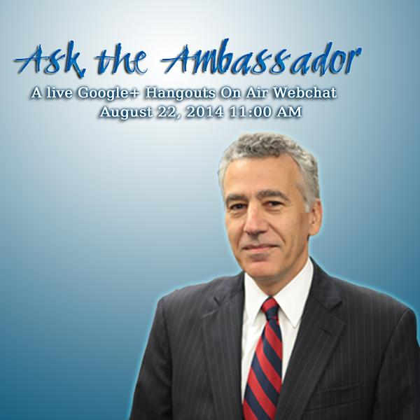 Excited to be a part of US Ambassador Goldberg's first ever webchat