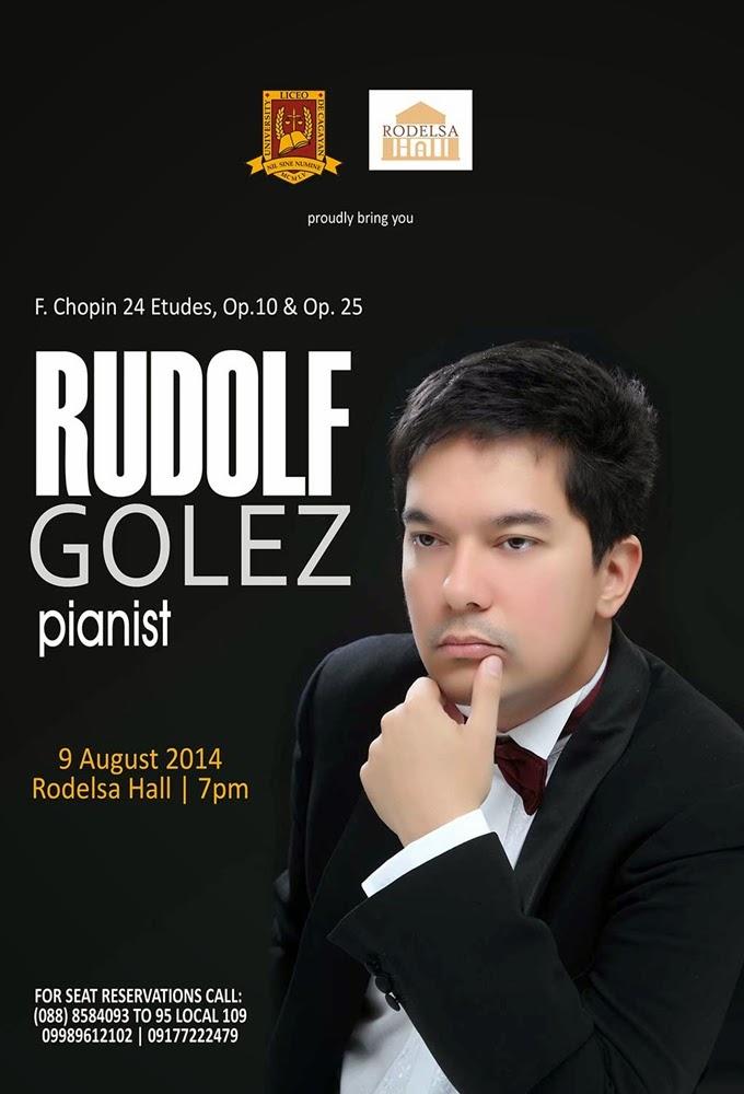 Catch world-class Filipino pianist Rudolf Golez in concert