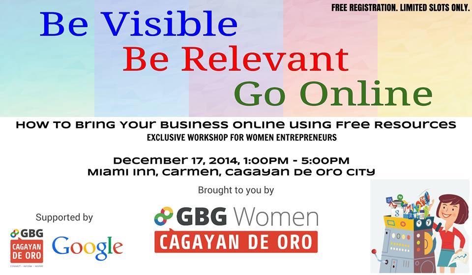 GBG Women CDO to offer FREE workshop for female entrepreneurs