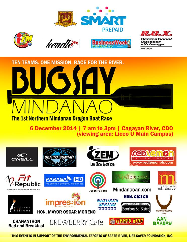 Mindanaoan.com supports Bugsay Mindanao 1st Northern Mindanao dragon boat race