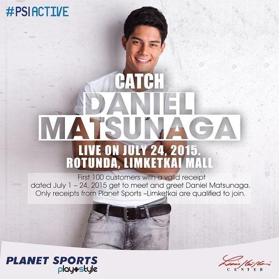 Daniel Matsunaga at Planet Sports Limketkai