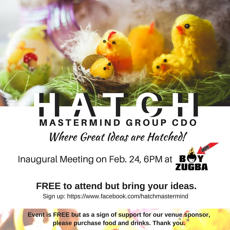 Join the HATCH Mastermind Group CDO