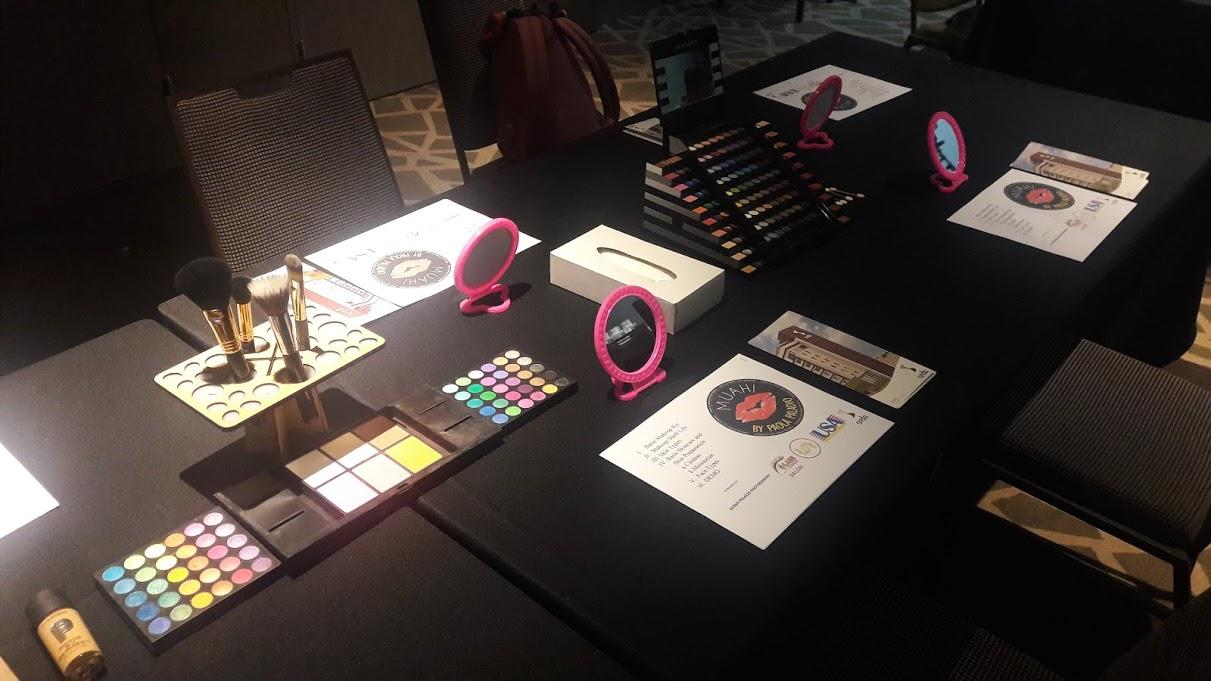 Attending a makeup workshop sponsored by Seda Rewards