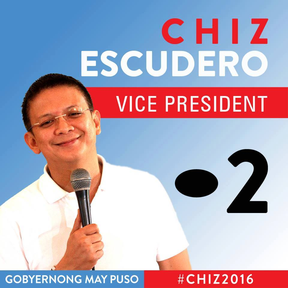 Why Chiz Escudero is my Vice President
